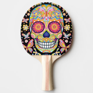Sugar Skull Ping Pong Paddle - Day of the Dead