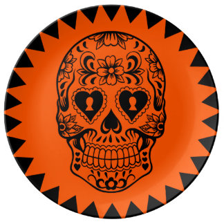 Sugar skull plate,Day of the Dead Plate