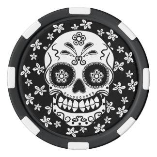 Sugar Skull Poker Chips