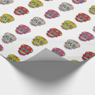 Sugar Skull Polka Dot Wrapping Paper
