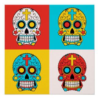 Sugar Skull Pop-Art Poster
