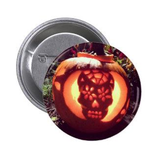 Sugar Skull Pumpkin 6 Cm Round Badge