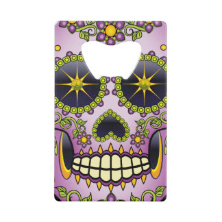 Sugar Skull Purple Floral