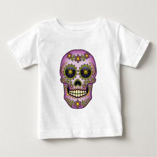 Sugar Skull - Purple Floral Baby T-Shirt