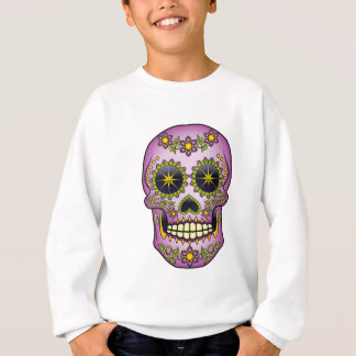 Sugar Skull - Purple Floral Sweatshirt