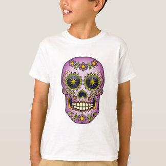 Sugar Skull - Purple Floral T-Shirt
