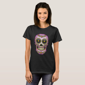 Sugar Skull Purple Floral T-Shirt