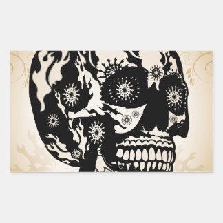 Sugar skull rectangular sticker