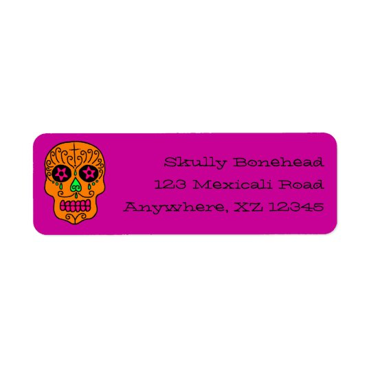 Sugar Skull Return Address Label
