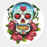 Sugar Skull Round Sticker