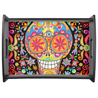 Sugar Skull Serving Tray - Day of the Dead Tray