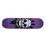 sugar skull skateboard decks