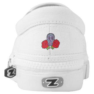 Sugar Skull Slip-On Shoes