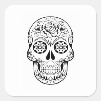 Sugar Skull Square Sticker
