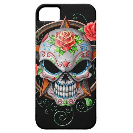 Sugar Skull Star, black iPhone 5 Cover