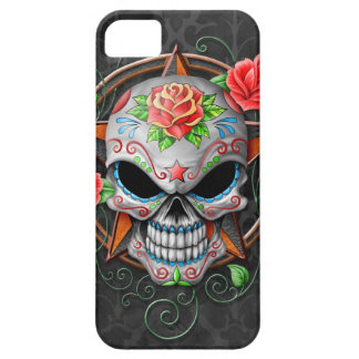 Sugar Skull Star, grey Case For The iPhone 5