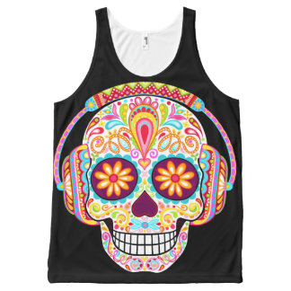 Sugar Skull Tank Top - Day of the Dead Tank Top All-Over Print Tank Top