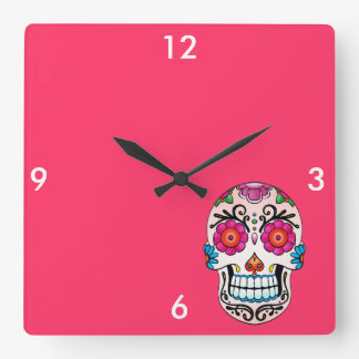 Sugar Skull - Tattoo Art Square Wall Clock