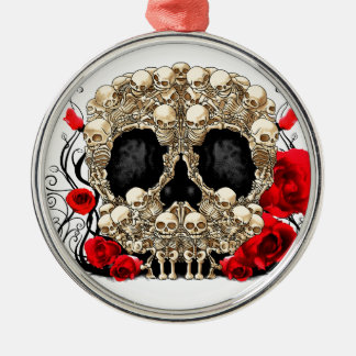 Sugar Skull - Tattoo Design Metal Ornament