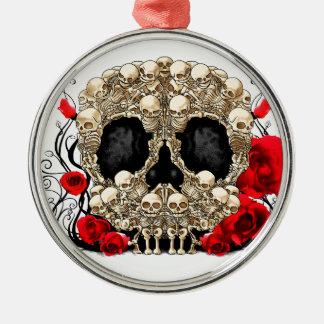 Sugar Skull - Tattoo Design Metal Ornament