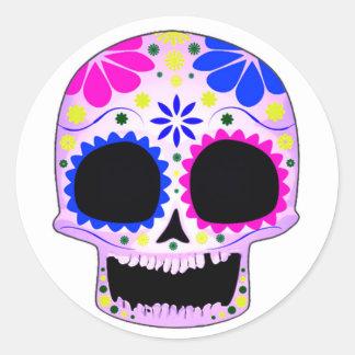 Sugar Skull - Tattoo Design Round Stickers