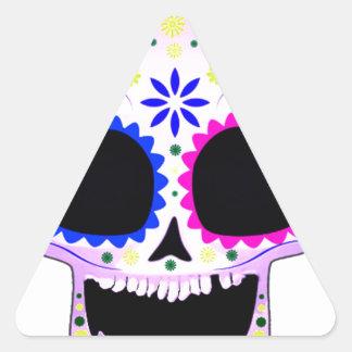 Sugar Skull - Tattoo Design Triangle Sticker