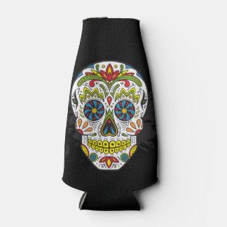 Sugar Skull Tattoo Skull Can or Bottle Cooler