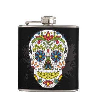 Sugar Skull, Tattoo Skull, Mexican Skull Hip Flask
