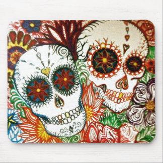 sugar skull tattoo style mouse matt mouse pad