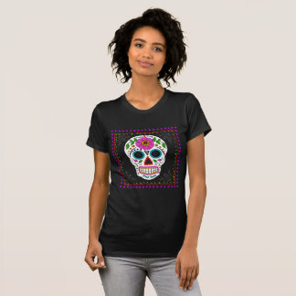 Sugar Skull Tee for Her, Halloween Tee