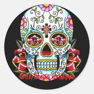 sugar skull, The Body Shoppe Classic Round Sticker