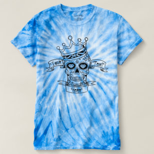 Sugar Skull Tie Dye Personalised Mens T-shirt