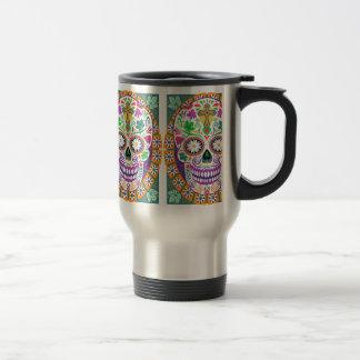 Sugar Skull Travel Mug, Day of the Dead Travel Mug