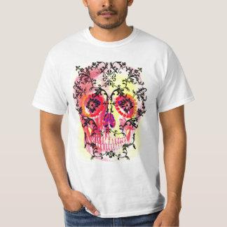 SUGAR SKULL UNDER VINES PRINT T-Shirt