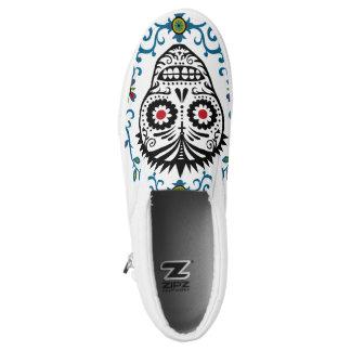 Sugar Skull Voodoo Slip On Shoes