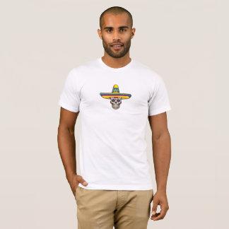 Sugar Skull Wearing Sombrero T-Shirt