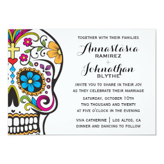 Sugar Skull Wedding Invitation