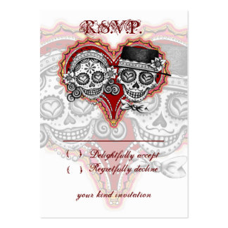 Sugar Skull Wedding RSVP Cards Pack Of Chubby Business Cards