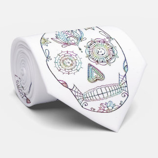Sugar Skull with Candy Paint Tie