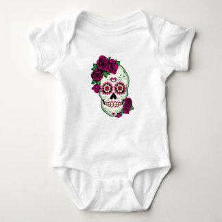 Sugar Skull with Roses Baby Bodysuit