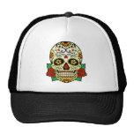 Sugar Skull with Roses Cap