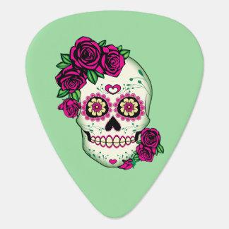 Sugar Skull with Roses Plectrum