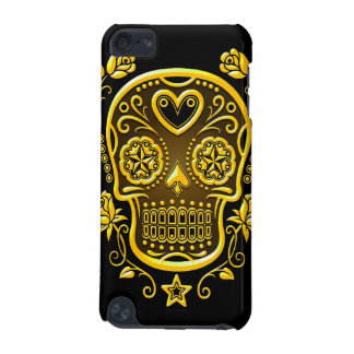 Sugar Skull with Roses, yellow iPod Touch (5th Generation) Case