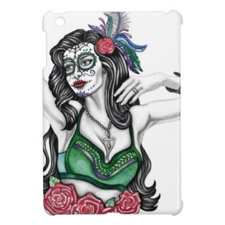 Sugar Skull Woman with Roses Cover For The iPad Mini