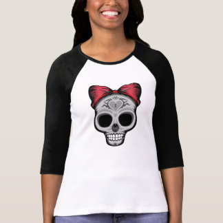 Sugar Skull Women's Bella 3/4 Sleeve Raglan Shirt