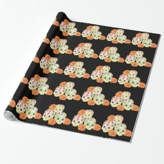 Sugar Skulls and Marigolds Wrapping Paper