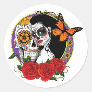 Sugar Skulls Classic Round Sticker