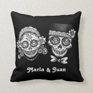 Sugar Skulls Couple Pillow - Customise it! Cushion