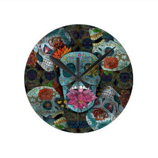Sugar Skulls Design Wall Clocks