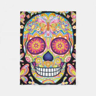 Sugar Skulls Fleece Blanket - Day of the Dead Art